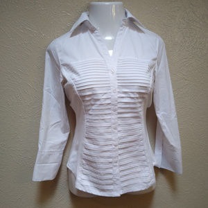 Zac and Rachel Tuxedo Front Collared Shirt Size S